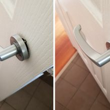 door handle repair before after