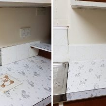 laundry tiling before after