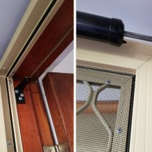 Security Screen Door Opener Before and After